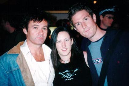 Sarah Dix wearing her favourite Key- The Vortex - with Paul McDermott (from TV's Good News Week) and Wil Anderson (from triple J & The Glass House) with Starcode and The Myriad Intuitive Card Deck based on Starcode Symbols